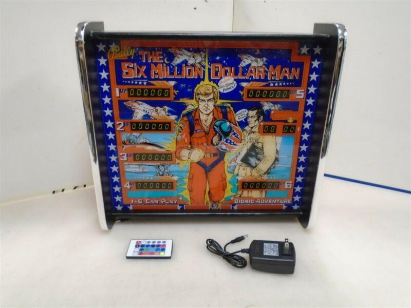 Bally Six Million Dollar Man Pinball Head LED Display light box
