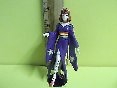 "Bandai Sega Sakura Wars Sumire Kanzaki 4""in Mini PVC Figure Purple Dress Nice!!"
