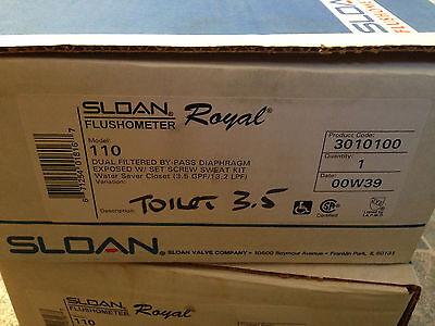 Sloan Royal  Flushometer  model 110 3.5 gpf ~~NOS Made in USA 3010100 Royal Model Flushometer