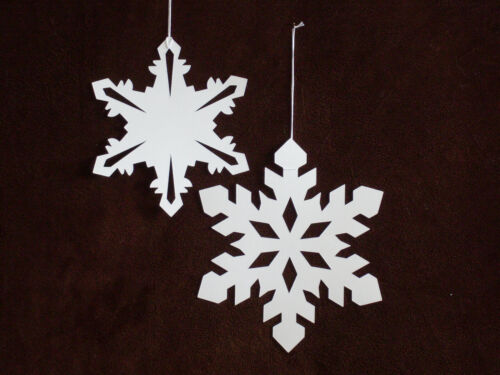 Paper Snowflake 2-D Hanging Ornaments, Set of 6, Assorted Size, Item# 2020-19-2D