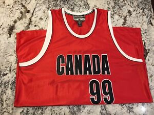 Steve & Barry's Red Canada Basket- Ball Jersey L/XL