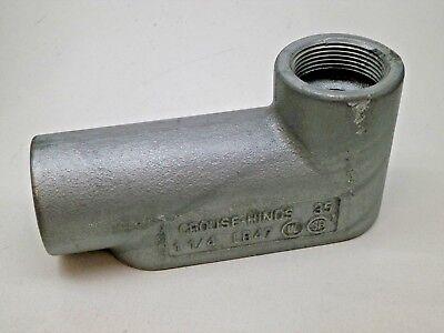 Crouse-hinds Lb47 1-14 Aluminum Condulet Rigid Conduit Outlet Body Type Lb