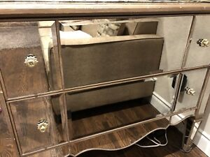 Mirrored chest of drawers - antique finish and rare