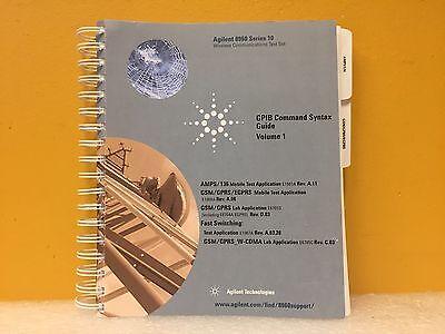Agilent Hp 5973-0218 8960 Series 10 Gpib Command Syntax Guide. Volume 1