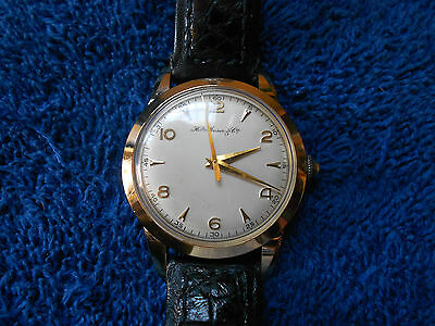 Vintage H. Moser & CIE 18k Solid Gold INCREDIBLY BEAUTIFUL & Minty Men's NO RESV