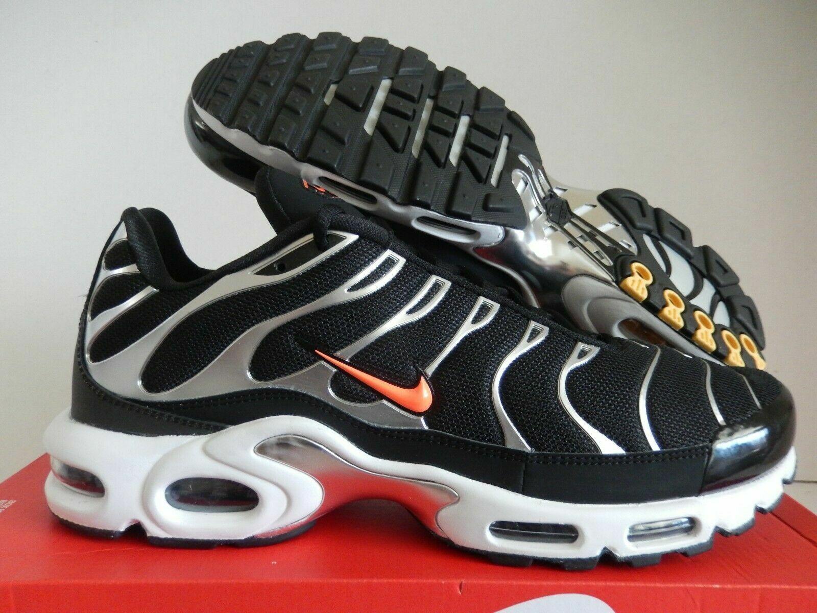 Dettagli su Nike Air Max più TN se Tuned Nero Argento Arancione Uomo (CD1533 001) Taglia