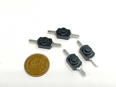4x Dc 30v 1a Black Latching On Off Mini Torch Push Button Self-locking Switch B5
