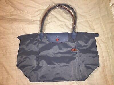 LONGCHAMP Bag LE CLUB PLIAGE Limited Ed BLUE MIST Large Long Handle PARIS - Le Paris Club