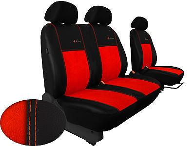 Für Opel MOVANO bis 2010 paßgenaue Sitzbezüge  ALKANTRA-Sitzflächen ZIEGELROT