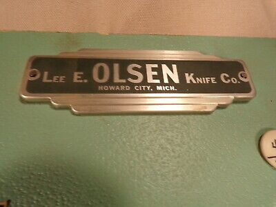 Rare Olsen Knife Co. Vintage Store Display Stag Handles Fixed Blade OK Folding