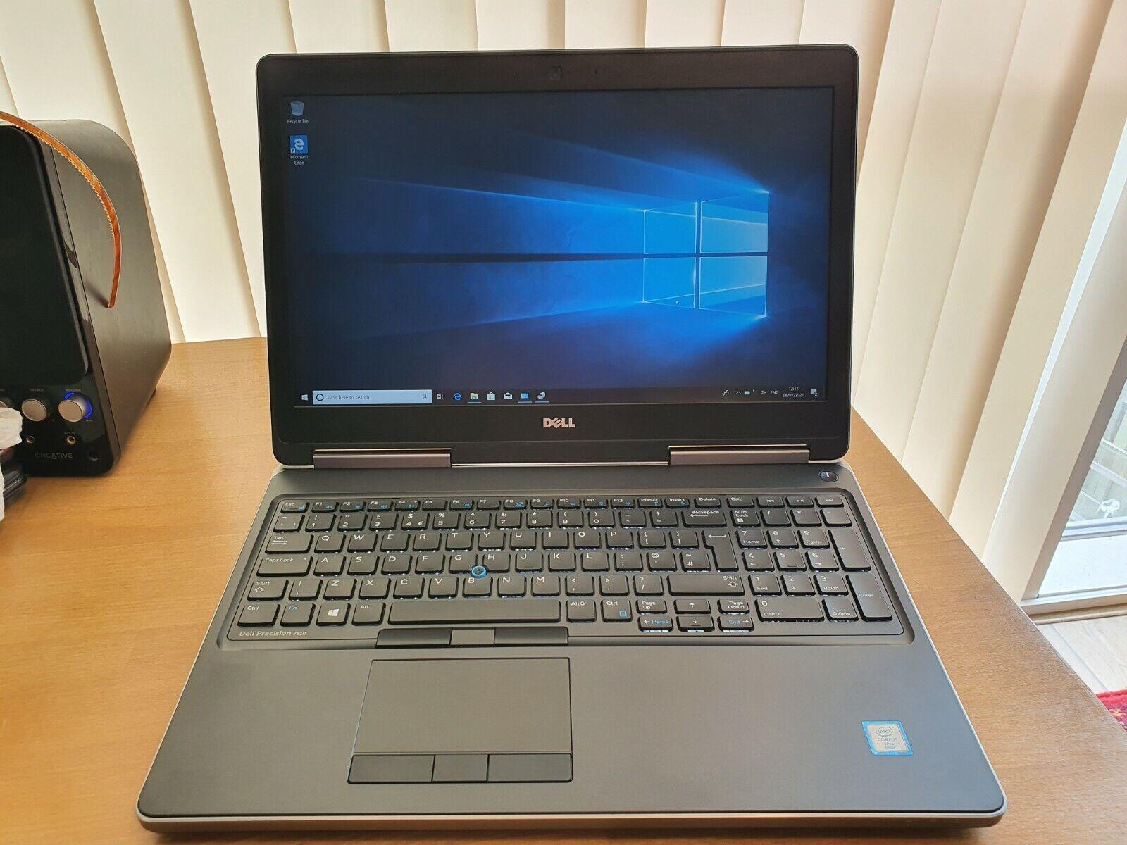 windows 7 laptop - Dell Precision 7510, i7 6820HQ 16GB RAM 500GB SSD Windows 10 Pro 15.6in 1080p