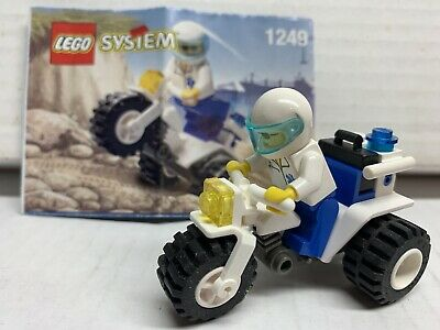 Vintage (1999) LEGO 1249 - Tri-motor Bike 100% Complete - VERY RARE Shell Promo
