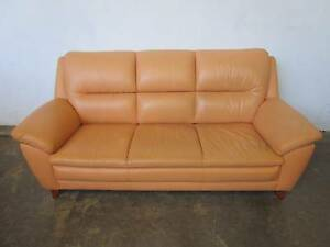 D5050 Beautiful 3 Seater Leather Sofa Lounge Mount Barker Mount Barker Area Preview