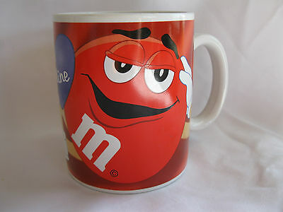 Red M&M Be Mine Valentine's Coffee Mug  - M&m Valentine's