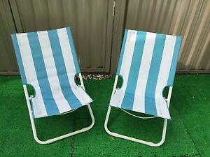 Folding/portable beach/garden/deck chair X2 Newtown Inner Sydney Preview