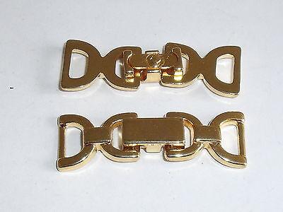 2 Stück Zierteile Metall Trachten Applikation gold NEUWARE rostfrei 728.2