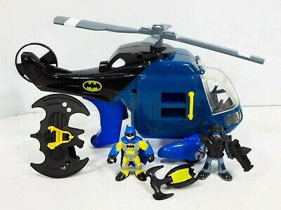 Imaginext Batman Gotham City Helicopter Super Friend Navy Variant Bat-Copter