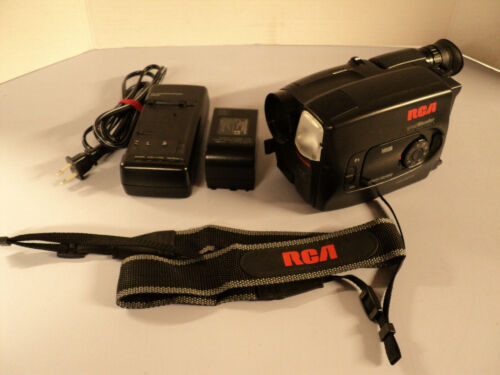 RCA CC 632 Small Wonder VHS-C CamCorder handleld Compact 4 Head Tested Works
