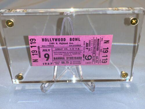 BARBRA STREISAND 1967 RARE UNUSED CONCERT TICKET HOLLYWOOD BOWL CALIFORNIA USA