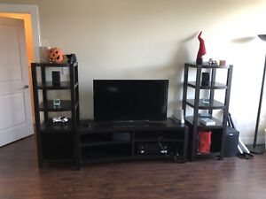 3 Piece Entertainment Center (TV Stand w/ Two Towers)