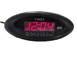 Timex Nature Sounds Clock Single Day Alarm Radio T1200B w/ MP3 Line-In Aux Works