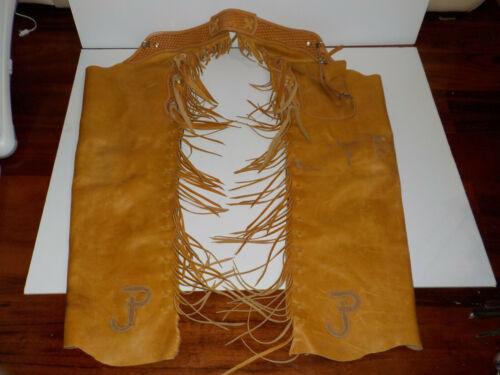 Vintage Leather RICHARD OLIVER Cowboy Western Chaps Ranch Wear Oliver Saddle
