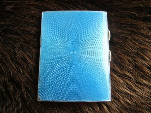 Silver enamel cigarette case deco REDUCED