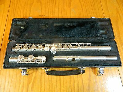 YAMAHA 225SII SILVER PLATED CLOSED HOLE FLUTE OFFSET G W/CASE