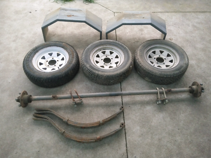 6x4 Trailer axle and springs