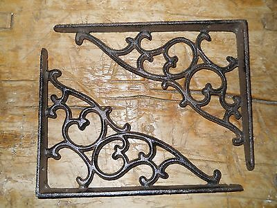12 Cast Iron Antique Style SM Leave & Vine Brackets Garden Braces Shelf Bracket