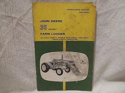 Vintage John Deere Operator's Manual 35 Series 1 Farm Loader