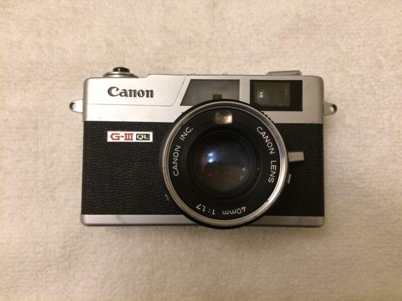 [TESTED] Canon Canonet QL17 GIII 35mm Film Camera Clean New Light Seals