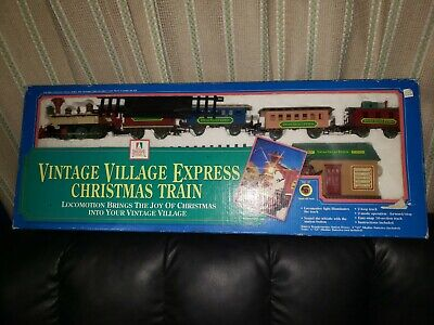 Vintage Village Express Christmas Train Set~ Holiday Time~VINTAGE GIFT?