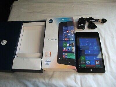 LINX 810 3G WINDOWS 10 12.5CM X 21.5CM TABLET BOXED