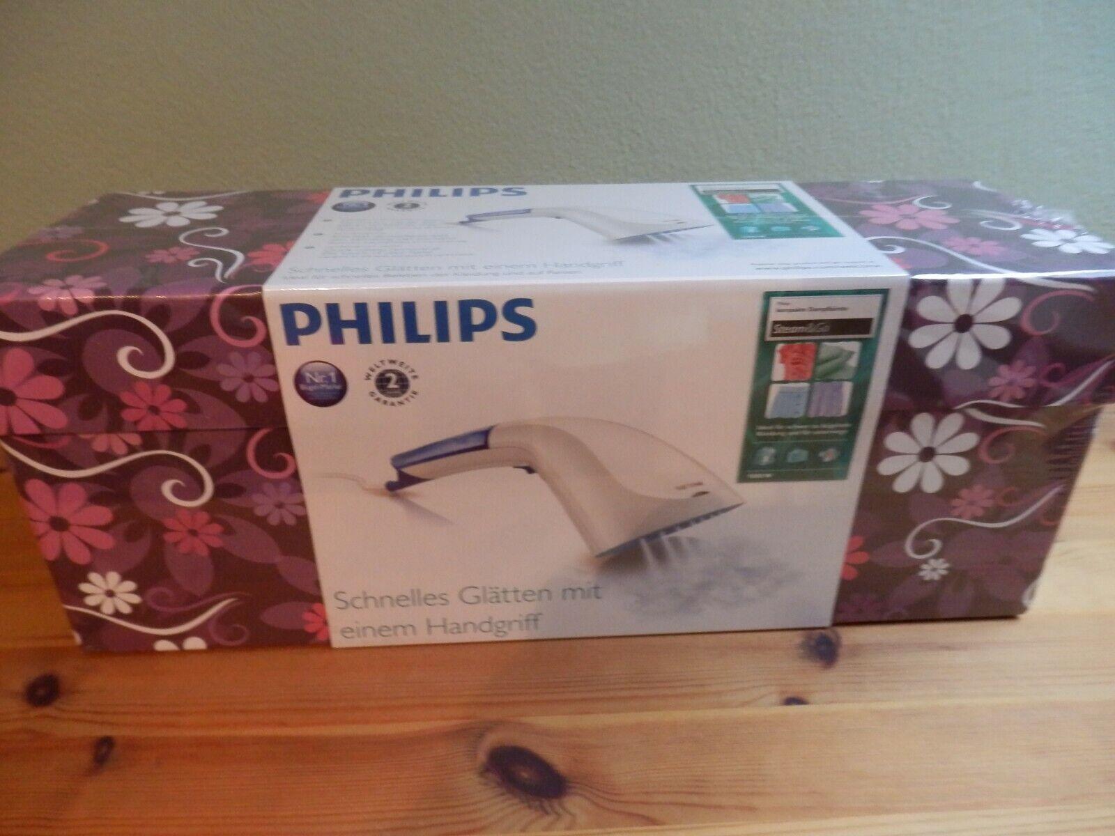 Kompakte Dampfbürste Philips GC310/55 Steam&Go mit schöner Aufbewahrungsbox