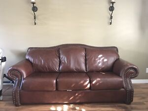 Campio leather couch and love seat