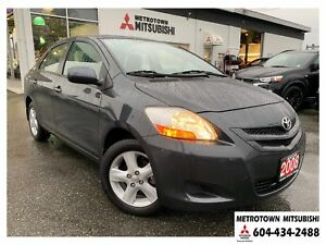 2008 Toyota Yaris Base; Local BC vehicle! LOW KMS!