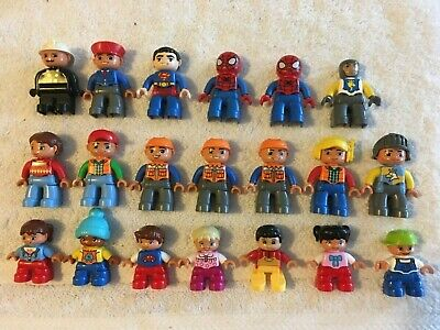 Lego Duplo Figures Lot of 20 - Kids Adults Construction Workers Knights Superman