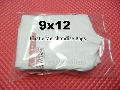 100 Clear Plastic Merchandise Bags 9x12 1.5 Mil Quality Expedited Shipping