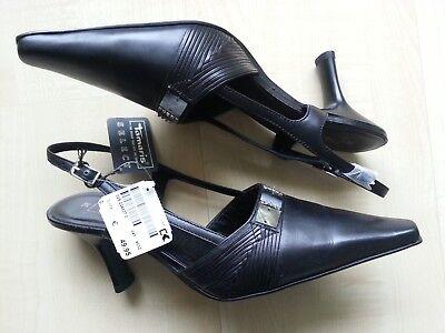 Tamaris Leder-Riemchen-Pumps-Absatz-Schuhe-Leather-Heels-Shoes 38 neu Etikett