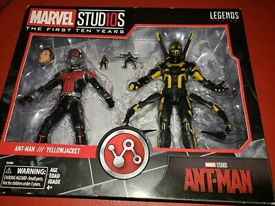 NIB MARVEL LEGENDS ANT-MAN & YELLOW JACKET, 2 PACK, FIRST 10 YEARS