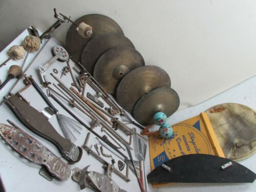 1920s Trap Percussion Lot Foot Pedals Cymbals Hdwr Drum Ludwig Slingerland