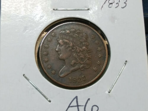 Nice Detail 1833 US Half Cent Classic Head