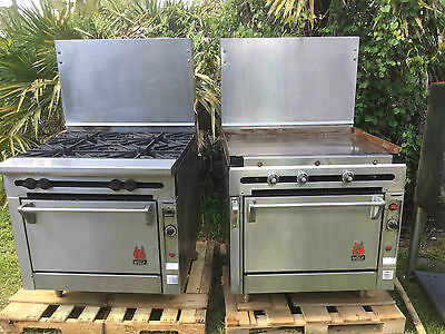 Commercial Wolf Range And Griddle Natural Gas Oven Set