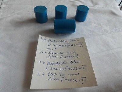 Fischertechnik 3-6, 4 Stück blaue Rohre mit Deckel