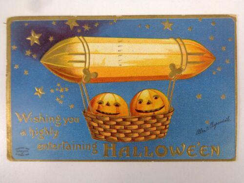 Vtg Clapsaddle Postcard Wishing You Highly Entertaining Halloween S. Garre
