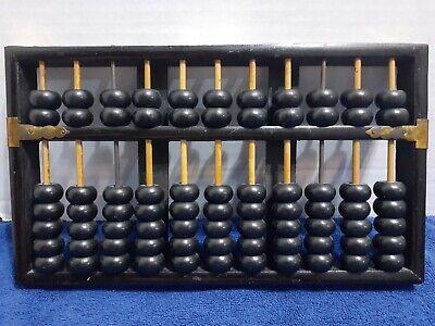 Vintage Lotus Flower Brand Abacus 11 Rods: 9 Wood 2 Metal 77 Wood Beads