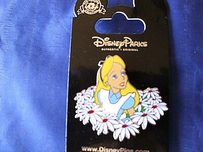 Disney ALICE & FLOWERS - DAISIES * New on Card Wonderland Character Trading Pin - Disney Alice In Wonderland Characters