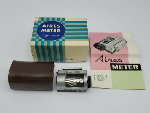 Vintage Rare - Aires Camera Light Exposure Meter w/ Case Instructions Box *READ*