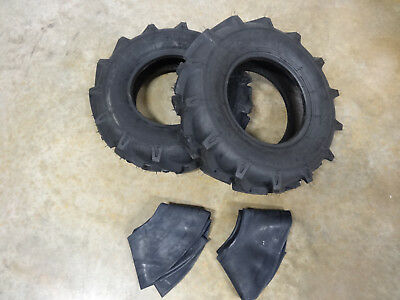 Two New 5.00-10 Starmaxx R-1 Lug Tractor Tires Tubes Farm Compact Tractors